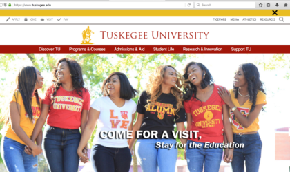 Thinking Behind the New Tuskegee University Website