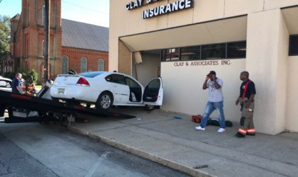 Car Smashes into Office Building